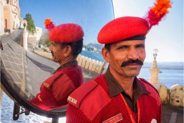 Индийский полицейский в Удайпуре. Раджастан