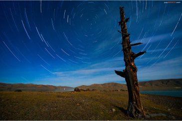 Ночь над озером Зуун Нуур. Монголия