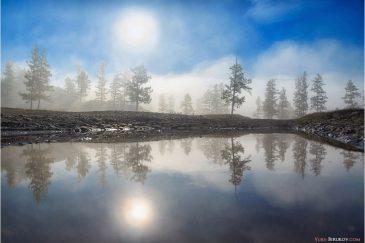 Утренний туман. Монголия