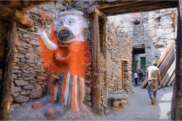 Идол в деревне Кагбени