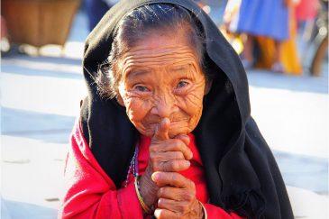 Веселая старушка в Катманду