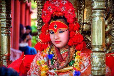 Живая богиня Кумари в Катманду