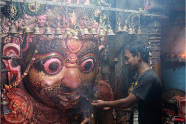 Божество Махендранатх (покровитель долины Катманду) в деревне Бунгамати