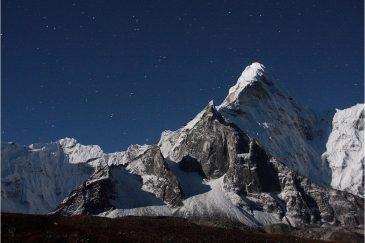 Горы и лунный свет