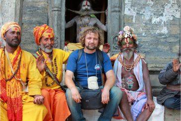С садху в Пашупатинатхе, Катманду