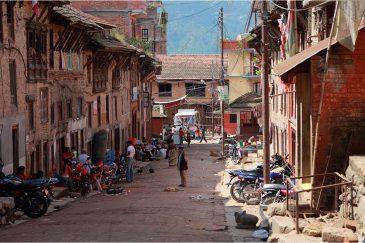 Типичная улочка неварской деревушки