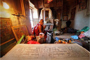 Буддистский отшельник в Ваджрайогини, долина Катманду