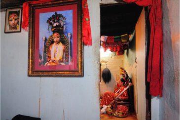 На приеме у живой богини Кумари в городе Патане