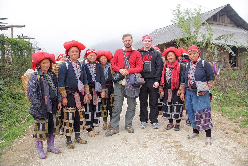 В деревне народности Красные Зяо. Вьетнам