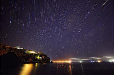 Звездные дорожки над островом Бали