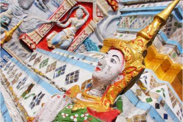 Красота лаосских храмов в поселке Хоксай