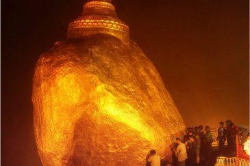 Чайттийо - Золотая скала, висящая над обрывом силой Будды