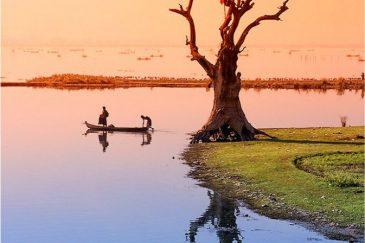 Озеро Таунгтхаман возле Амарапуры