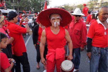 Демонстрация каких-то красных в Бангкоке