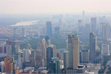Бангкок с высоты небоскреба