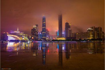 Небоскребы Гуанчжоу после дождя