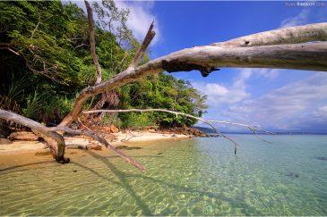 Пляж острова Сапи, провинция Сабах на острове Борнео