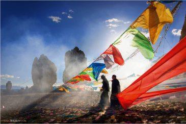 Праздник религии Бон на озере Нам-Цо