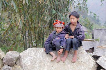 Босяки в деревушке народности Красные Зяо