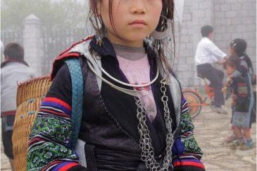 Девочка народности черные хмонги