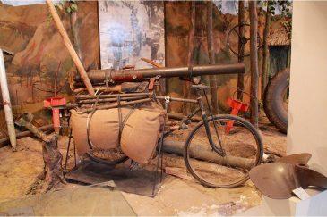 Во время войны с американцами вьетнамцы делали пушки из велосипедов. Военный музей Ханоя