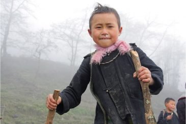 Дети горных деревушек северного Вьетнама