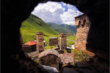 Башни Сванетии в деревне Ушгули