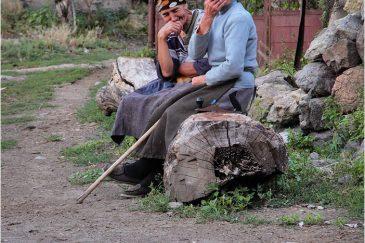 Бабули в грузинской деревне