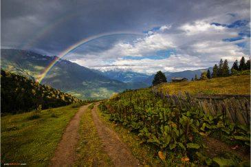 Дорога в горах Кавказа