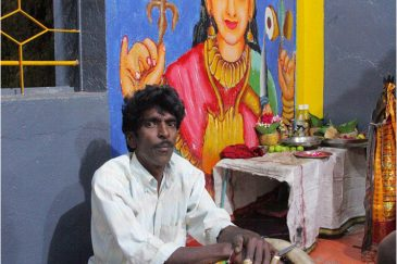 Тамильский музыкант в Хапутале