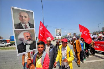 Вожди пролетариата на демонстрации в Непале