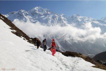 Прогулка к леднику на высоте 4000 м.