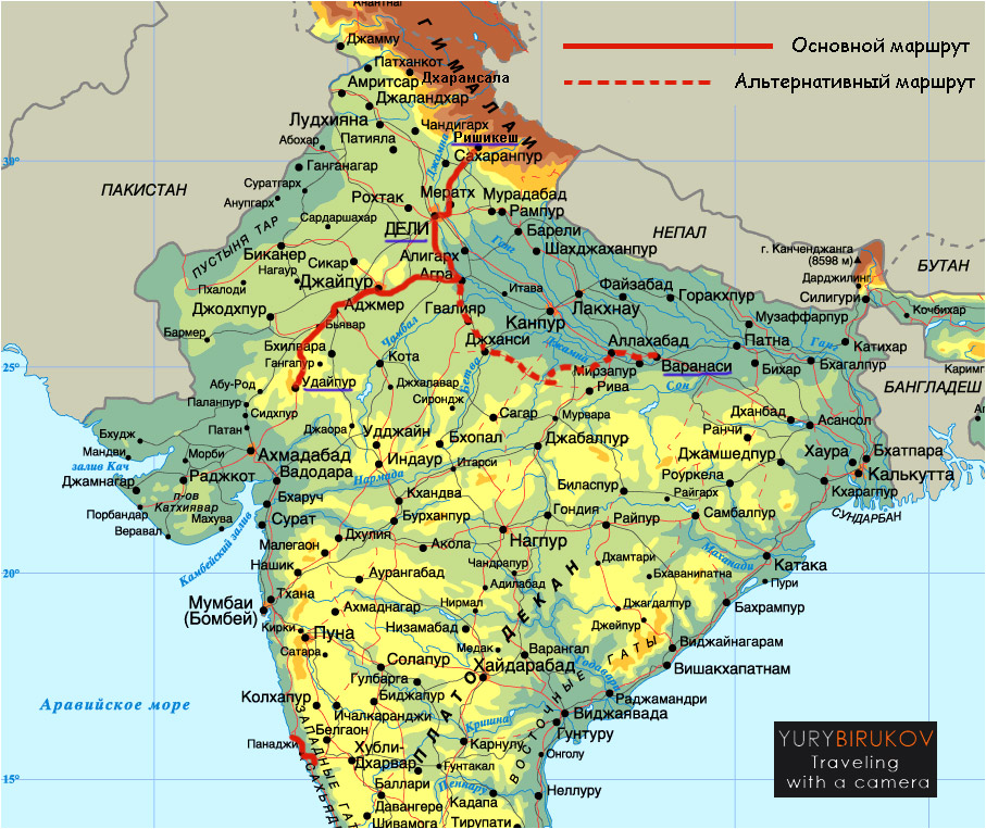 India-2015 map